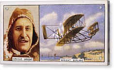 Orville Wright And Biplane Acrylic Print