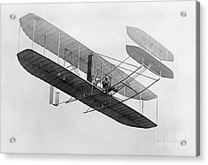 Orville Wright In Wright Flyer 1908 Acrylic Print