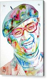 Osamu Tezuka Watercolor Portrait Acrylic Print