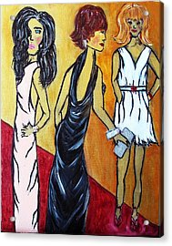 Oscar After-parties  Acrylic Print by Victoria  Johns