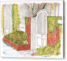 Oscar De La Renta Office Entrance In Melrose Place - West Hollywood - California Acrylic Print