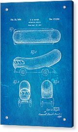 Oscar Mayer Wienermobile Patent Art 1954 Blueprint Acrylic Print by Ian Monk