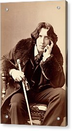 Oscar Wilde Acrylic Print by Library Of Congress