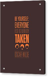 Oscar Wilde Quote Typographic Art Print Poster Acrylic Print by Lab No 4 - The Quotography Department