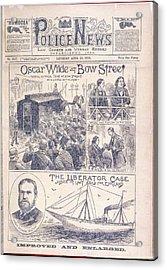 Oscar Wilde Trial Acrylic Print by British Library