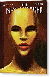 #oscarsnotsowhite Acrylic Print by Eric Drooker