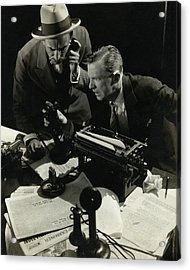 Osgood Perkins And Lee Tracey Acting Acrylic Print