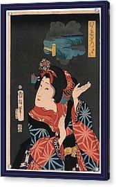 Oshichi The Young Maiden Oshichi. Utagawa, Kuniteru Acrylic Print by Kuniteru, Utagawa (1808-1876), Japanese