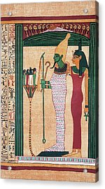 Osiris And Isis Acrylic Print by Sheila Terry/science Photo Library