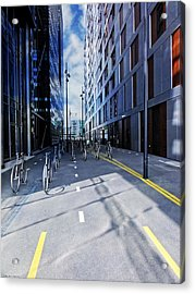 Oslo Architecture No. 3 -bicycles Acrylic Print