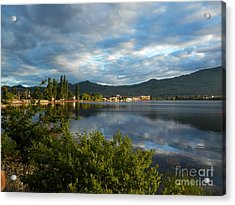 Osoyoos - Quiet Reflection Acrylic Print by Margaret McDermott