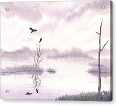 Ospreys At Dawn Acrylic Print by Anna Bronwyn Foley