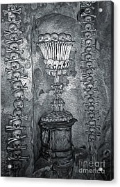 Ossuary Sedlec - Chalace Acrylic Print by Gregory Dyer