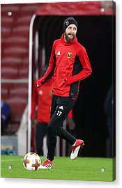 Ostersunds Fk Training Session And Press Conference - Emirates Stadium Acrylic Print by Adam Davy - PA Images