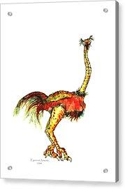 Ostrich Card No Wording Acrylic Print