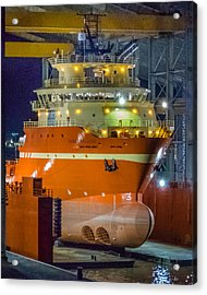 Osv In Port Fourchon Drydock Acrylic Print