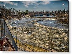 Oswegatchie River Flooding Acrylic Print