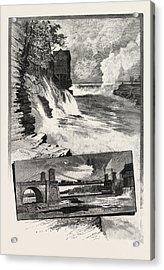 Ottawa, Chaudiere Falls, And Suspension Bridge Acrylic Print