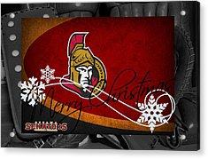 Ottawa Senators Christmas Acrylic Print