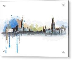 Ottawa Skyline 18b Acrylic Print by Mahnoor Shah