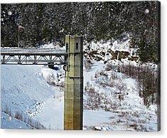 Otter Brook Dam Acrylic Print
