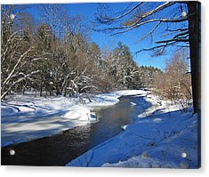 Otter Brook In Winter Acrylic Print