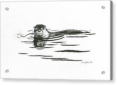 Otter In The Water Acrylic Print