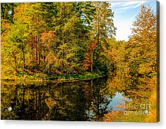 Otter Lake In The Fall Acrylic Print by Mark East