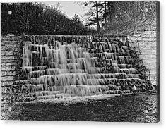 Otter Lake Waterfall Blue Ridge Parkway Acrylic Print