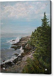 Acrylic Print featuring the painting Otter Point - New England by Sandra Nardone