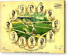 Our Baseball Heroes Acrylic Print by Pg Reproductions