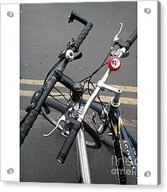 Our Bikes #cycling #bicycle Acrylic Print