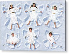 Acrylic Print featuring the photograph Our Christmas Snow Angels by Doug Kreuger