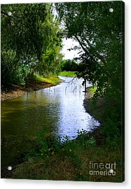 Our Fishing Hole Acrylic Print by Peter Piatt