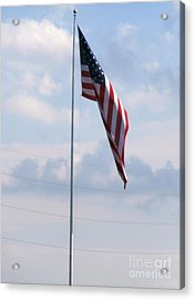 Our Flag Acrylic Print by Joseph Baril
