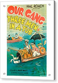 Our Gang Three Men In A Tub Movie Poster Acrylic Print by MMG Archive Prints
