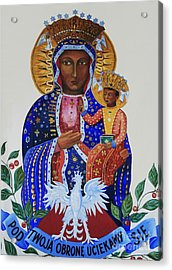 Our Lady Of Czestochowa Acrylic Print by Barbara McMahon