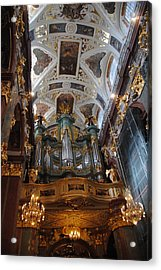 Our Lady Of Czestohowa Basilica Interior Acrylic Print by Jacqueline M Lewis