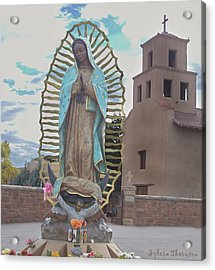 Acrylic Print featuring the photograph Our Lady Of Guadalupe by Sylvia Thornton