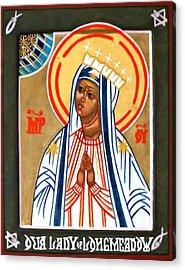 Our Lady Of Longmeadow Acrylic Print by Marcelle Bartolo-Abela
