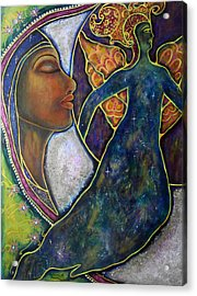 Our Lady Of Moonlit Mysteries Acrylic Print by Marie Howell Gallery