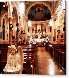 Acrylic Print featuring the photograph Our Lady Of Mount Carmel Church At Christmas by Aurelio Zucco