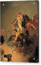 Our Lady Of Mount Carmel  Acrylic Print by Tiepolo Giambattista