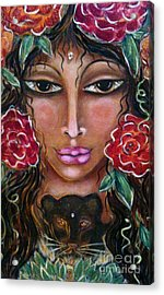 Our Lady Of The Lion Heart Acrylic Print by Maya Telford