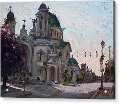 Our Lady Of Victory Basilica Acrylic Print by Ylli Haruni