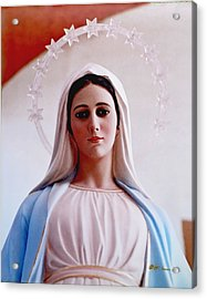 Our Lady Queen Of Peace Statue Acrylic Print