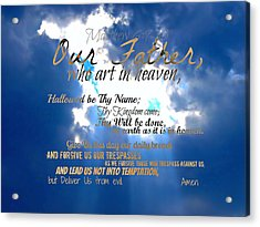Our Lords Prayer Acrylic Print
