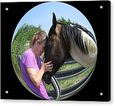 Our Love Acrylic Print by Rosalie Klidies