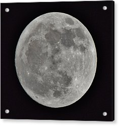 Our Moon Acrylic Print by Thomas  MacPherson Jr