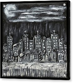 Our Town Acrylic Print by Gary Brandes